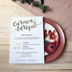 Invitación de boda BLAIR oro