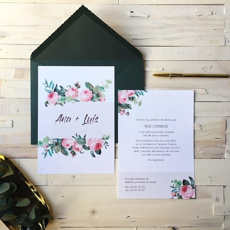 Invitación de boda Edith