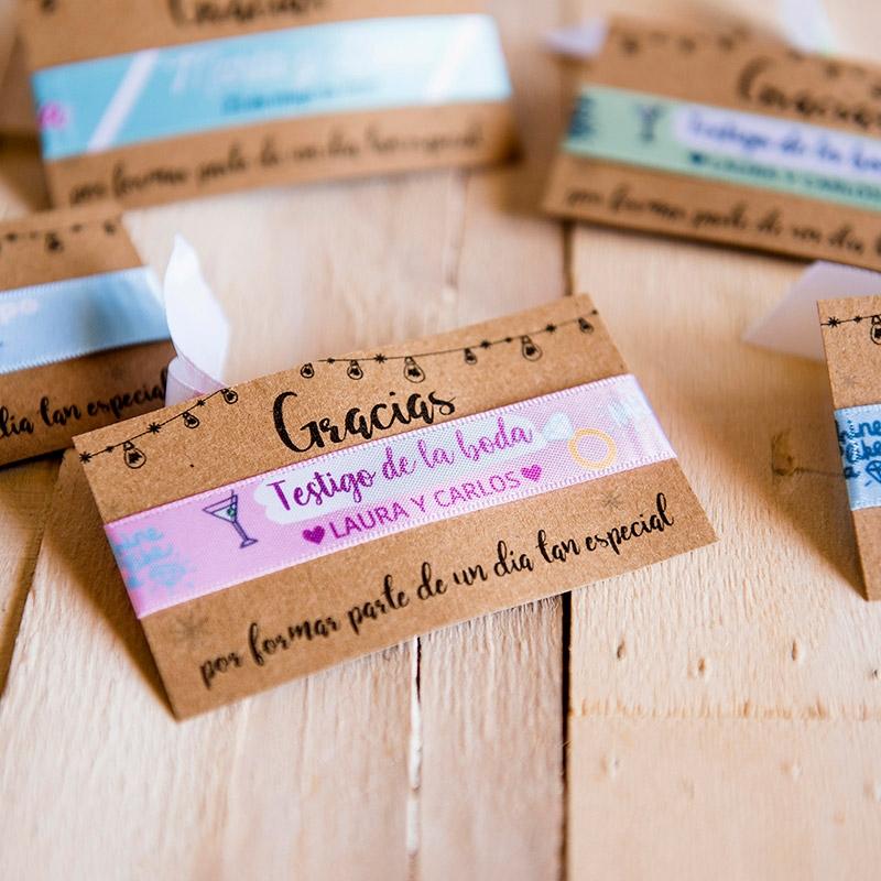 Pulsera personalizada para bodas