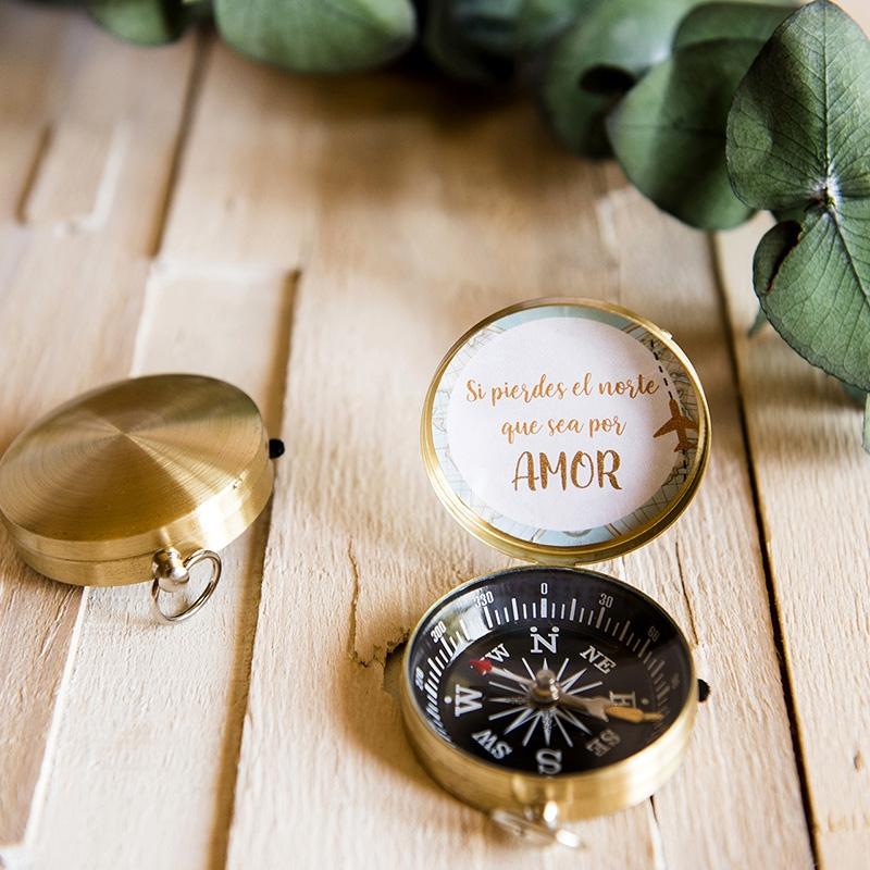 Brújula para regalar en tu boda