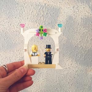 Cuadro futuros novios LEGO