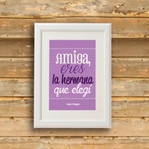 """Lámina """"Amiga"""""""