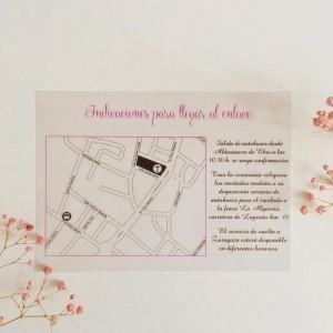 Plano personalizado para invitaciones de boda