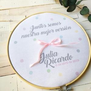 """Bastidor porta alianzas """"Juntos mejor"""""""