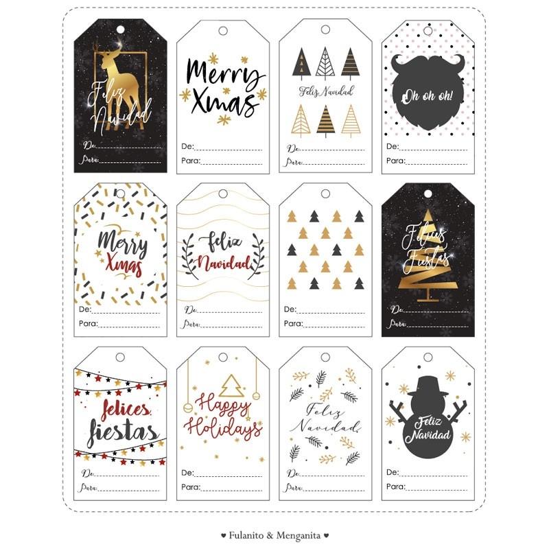 Etiquetas navideñas imprimibles
