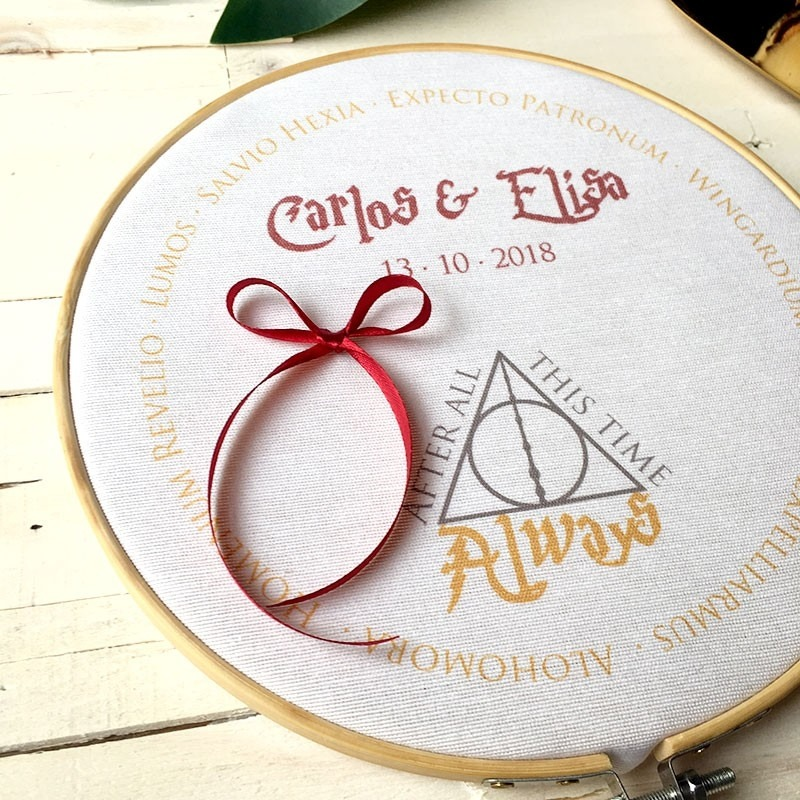 """Bastidor porta alianzas """"Harry Potter"""""""