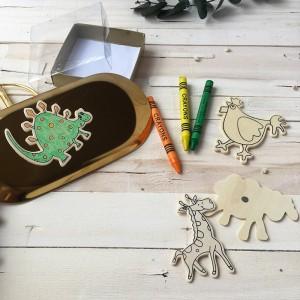 Imanes de madera para niños