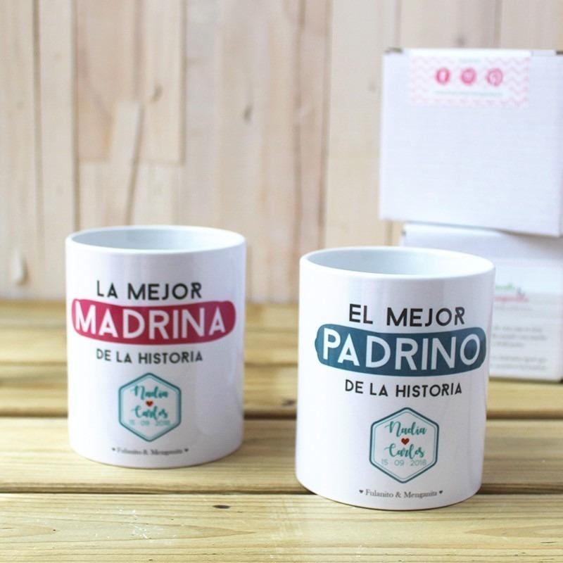 Pack de Tazas MADRINA y PADRINO